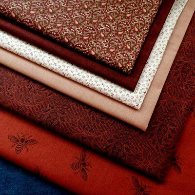 QUILT Fabric by Makower Tender Romance Red 100% Cotton Traditional