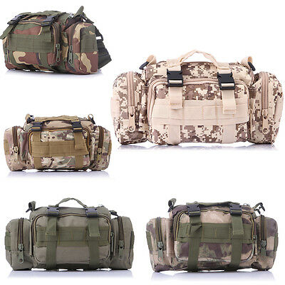 Tactical Military Waist Pack Shoulder Outdoor Bag Camo Camping Hiking Pouch Bag