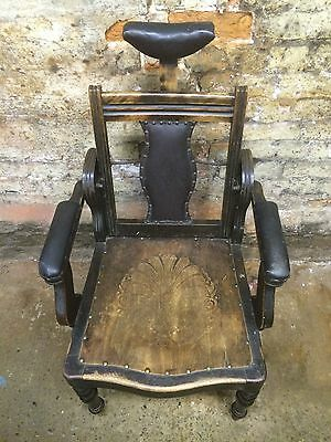 Old Vintage Rare Antique Original Edwardian Barbers Chair • £749.00