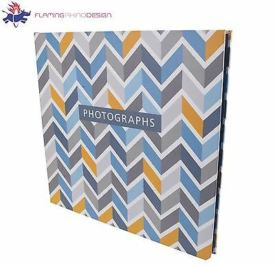 "JSP 140 Photos Slip In Photo Album 7""x5"" Orange Blue w/ Parallelogram Finish"