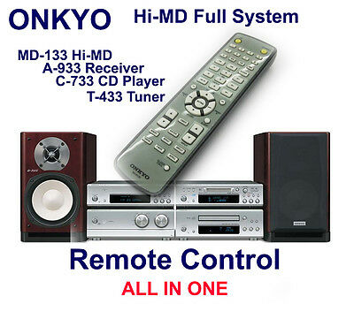 ONKYO REMOTE CONTROL FOR MD-133 Hi-MD C-733 CD Player T-433 Tuner A-933 Receiver