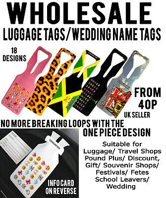 Wholesale Joblot Luggage Tags Travel Holiday Id Card Holder Travel Car Boot Item