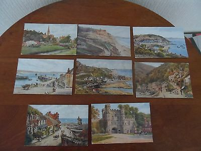 Collection Of 8 A.r Quinton Postcards From The English Watercolour Series