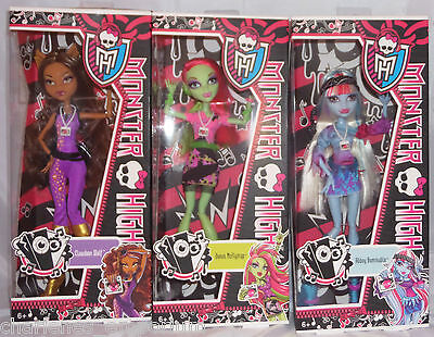 NEW Monster High Music Festival Doll wave collection VIP Clawdeen Abbey RARE