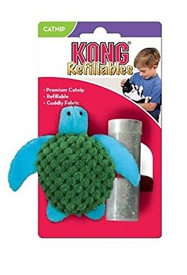 KONG Refillable Catnip Turtle Ideal Plush Soft for Pet Cat Play Hours Fun Toy