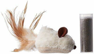 KONG Refillable Catnip Feather Mouse Pet Cat Play Time Fun Game Toy