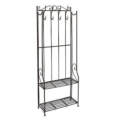 elli standgarderobe metallgarderobe garderobe schuhablage kompaktgarderobe black eur 59 00. Black Bedroom Furniture Sets. Home Design Ideas