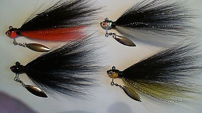 5 - 3/8 oz. - UNDER SPIN TIED BUCKTAIL WITH BLADES ATTACHED - Assorted colors