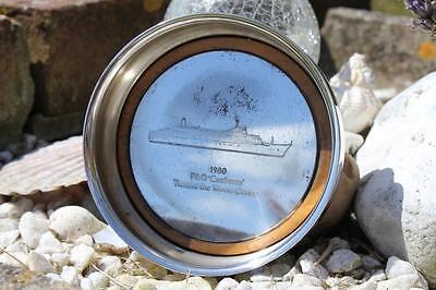 P&o Line Ss Canberra Ships Souvenir Silver Plate Wine Coaster World Cruise 1980