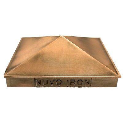 "Nuvo Iron 5.5""x 5.5"" (nominal 6""x 6"") Pyramid Aluminium Post Cap PCP03CP COPPER"