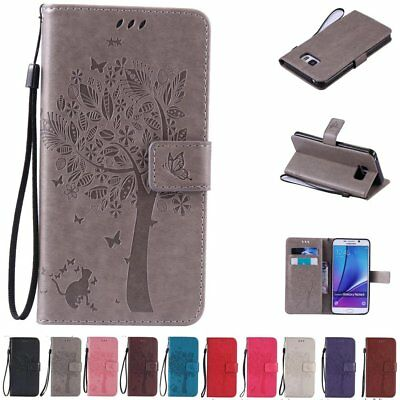 Fashion Flip Leather Wallet Card Stand Case Cover Fr Samsung Galaxy Note 7 5 4 3