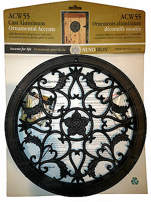 Nuvo Iron ROUND DECORATIVE GATE FENCE INSERT ACW55 fencing,fence gates,home