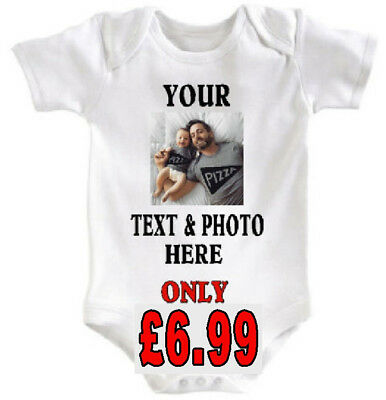 Personalised Baby Bodysuit Grow Vest Girl Or Boy Clothes Funny Gift