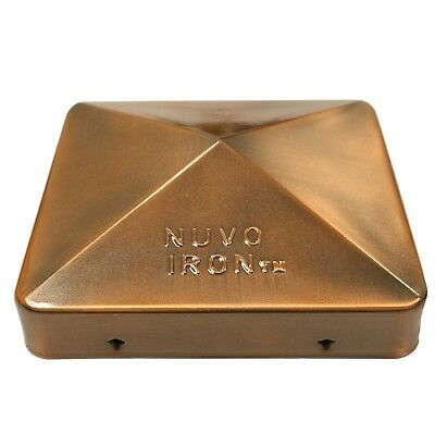 "Nuvo Iron 5.5"" x 5.5"" Eazy Cap (for Posts with Rounded Corners) - Copper Plated"