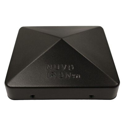 "Nuvo Iron 5.5"" x 5.5"" Eazy Cap (for Posts with Rounded Corners) - Black PCP12BLK"