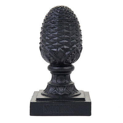 NUVO IRON 3 1/2 x 3 1/2 (nominal 4x4) PINEAPPLE POST CAP PCP04 Black fence decor