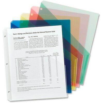 Smead Poly Translucent Slash File Jacket, 3-Hole, Letter, Asst.Color, 5pk(89505)