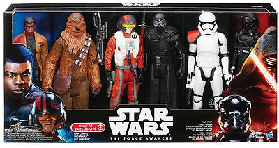 Star Wars The Force AwakensTarget Exclusive 12 inch 6 Figure Action Set NIB