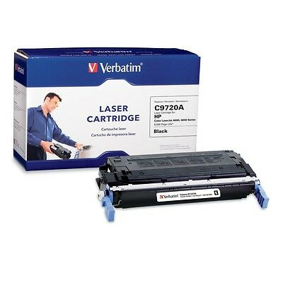 Verbatim HP C9720A Black Remanufactured Laser Toner Cartridge - TAA Compliant