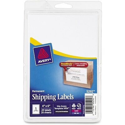 Avery Shipping Labels with Trueblock Technology - AVE5292