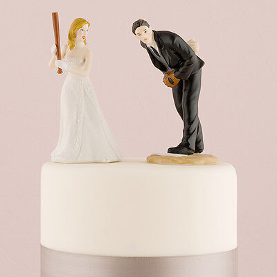 Baseball Wedding Cake Topper Bride and Groom Personalized Weddingstar