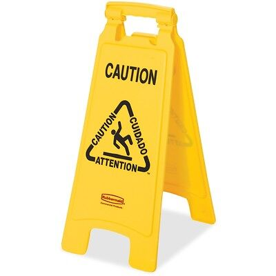 Rubbermaid Lightweight Caution Floor Sign - RCP611200YW