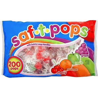 Saf-T-Pops Wrapped Lollipops - MJK182