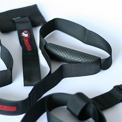 LeticBuild SUSPENSION TRAINER | Crossfit Home Gym Workout Straps Strength MMA