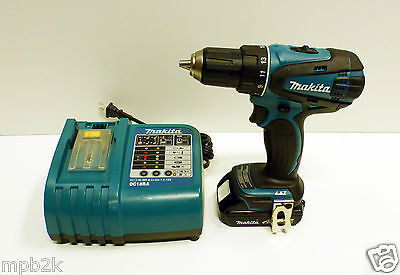 """Makita DDF456 1/2"""" Chuck Drill Driver Kit Battery + Charger Used"""