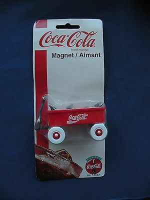 Coca-Cola Magnet 1997 red wagon ice coke bottles No.51482 in orginal package
