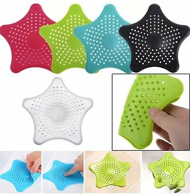 Silicone Hair Catcher Stopper Bath Shower Drain Filter Hair Trap Stop- All Color