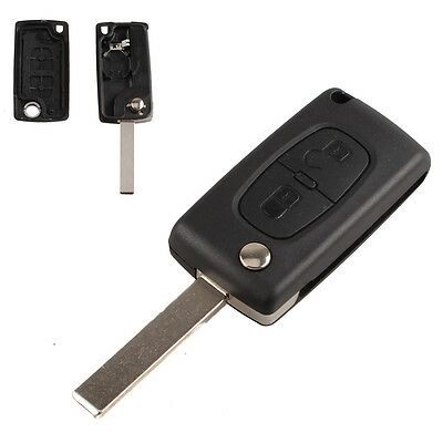 Remote Replacement 2x Button Car Key Fob Shell Case for PEUGEOT 207 307 308 407