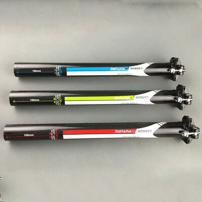 Carbon Fiber Road Mountain Bike Seatpost Bicycle Seat post tube 27.2/30.8/31.6mm