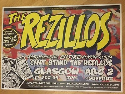 The Rezillos - Rare Gig poster, Glasgow - Dec 2008