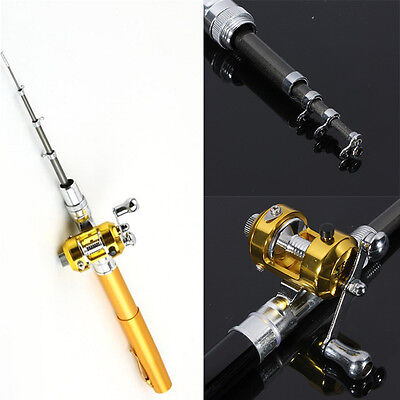 Light Portable Pocket Fish Pen Shape Aluminum Alloy Fishing Rod Experience Life