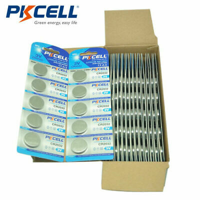 100pcs CR2032 DL2032 ECR2032 3V Button Coin Cell Watch Lithium Batteries PKCELL