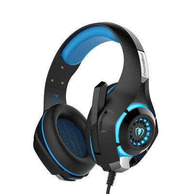 Gaming Over-Ear Ear-Cup Headphone Headset Mic LED Light For PC PS4 Xbox 1 Tablet