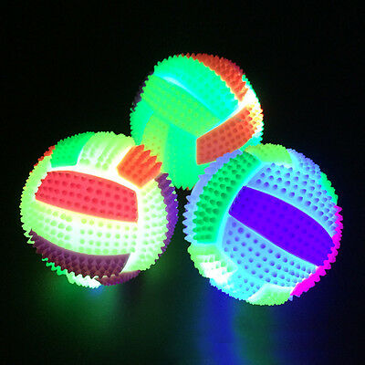 LED Volleyball Flashing Light Up Color Changing Bouncing Hedgehog Ball Kids Gift