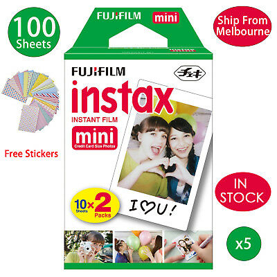 100 Sheet Fujifilm Instax Mini Film Fuji instant photos 7s 8 90 25 Polaroid 300