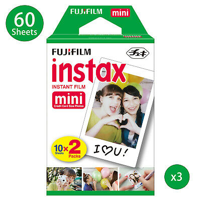 60 Sheet Fujifilm Instax Mini Film Fuji instant photos 7s 8 90 25 Polaroid 300