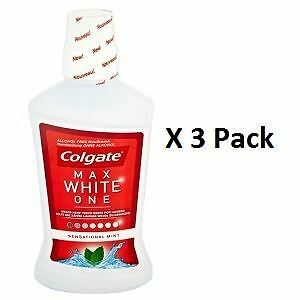 Colgate Max White One Alcohol Free Rinse 500ml x 3 Pack