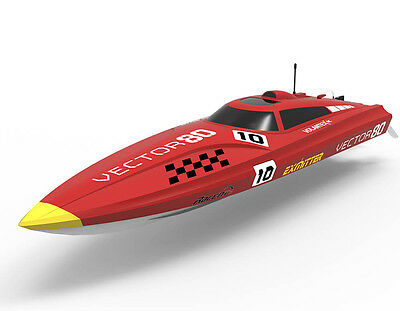Volantex 81CM RC Vector 80 ABS Hull Red PNP Model Racing Boat 70km/h W/ 50A ESC