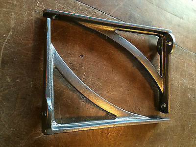"Pair 6"" x 4"" SMALL INDUSTRIAL ANTIQUE CAST VICTORIAN SHELF BRACKETS ~ BR22p(x2)"