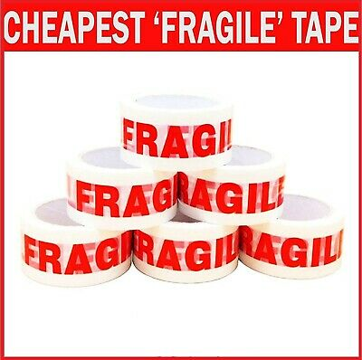 Fragile Printed Strong Parcel Packing Tape Multilisting 48Mm 66M Box6 12 24 36