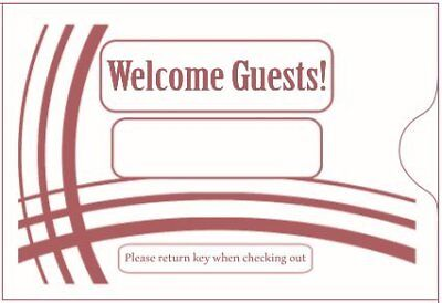 "Keycard Envelope / Sleeve "" Welcome Guests"" 2 3/8"" x 3 1/2"" 500CT Item#KCB238B"