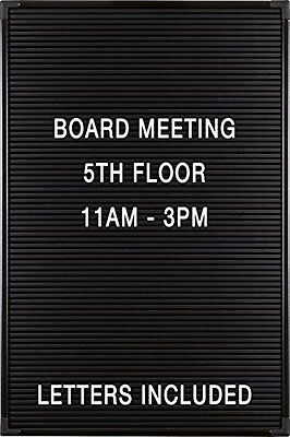 """NEW Balt Essentials Black Letter Board with Letters 12""""X18"""" 84176 FREE SHIPPING"""