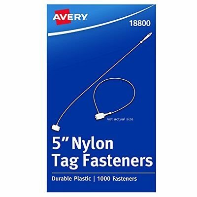 NEW Avery Fasteners Nylon Clear 5 inches Pack of 1000 18800 FREE SHIPPING