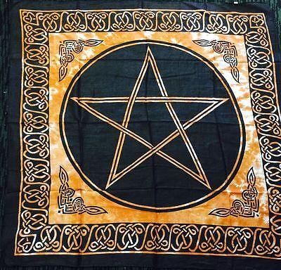 Pentagram Altar Tarot Cloth Cotton Wicca Pagan New Design (4)