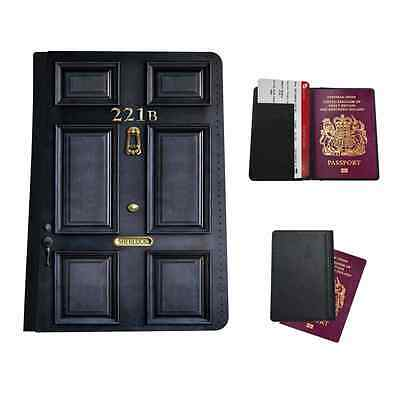 221B Sherlock Printed Faux Leather Passport Holder Cover Case