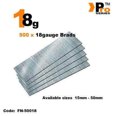 18Gauge Second Fix Nails 500 Brads
